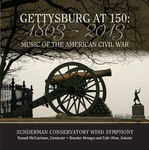 CD Cover: Sunderman Conservatory Wind Symphony Gettysburg at 150
